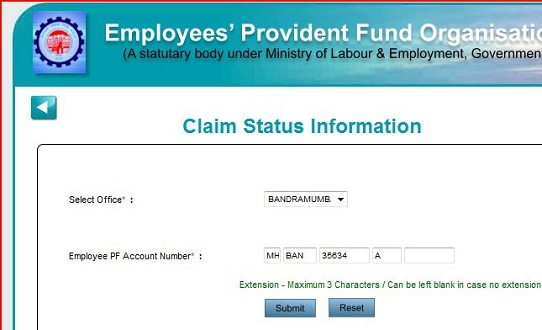 Status of pf claim in bangalore dating 5