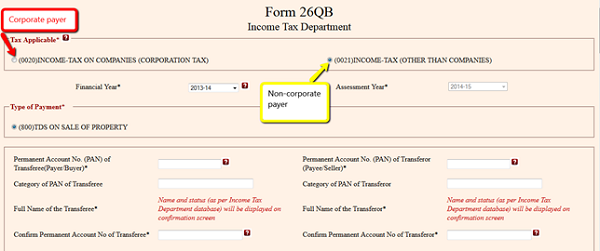 Form 26QB