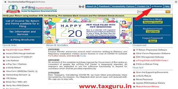 E-Nivaran Income Tax - Without login 1