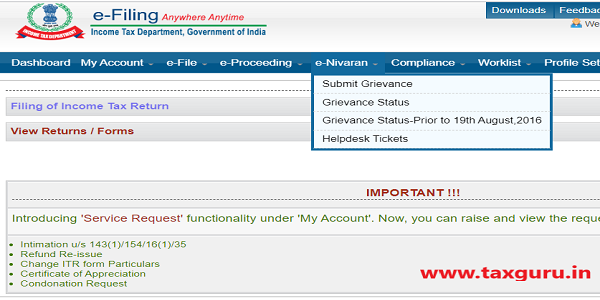 E-Nivaran Income Tax - with login