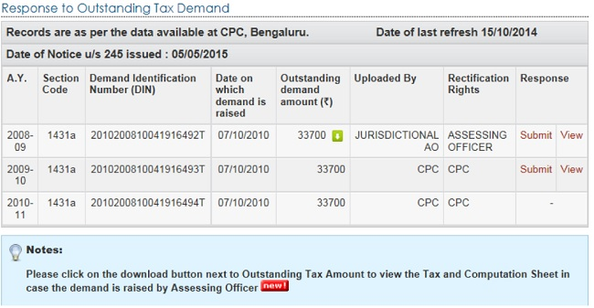 How to submit response to outstanding income tax demand response to outstanding tax demand spiritdancerdesigns Images