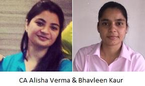 CA Alisha Verma and Bhavleen Kaur