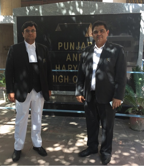 Petitioner with his counsel Advocate Hitesh Kaplish at after Landmark Victory in VISHAL GARG AND ORS V/S UNION OF INDIA