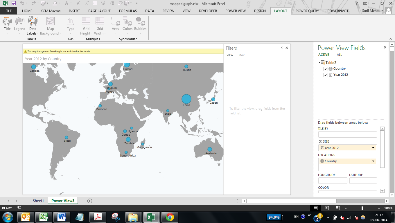 excel MAP 9