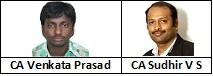 CA Sudhir V S and CA Venkata Prasad