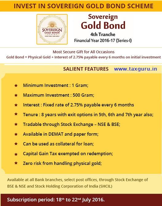 Sovereign Gold Bond (SGB) scheme