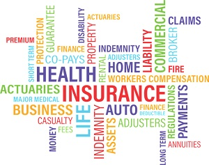 blog word cloud wordle graphic insurance concept