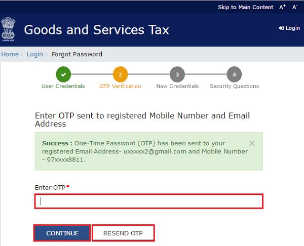 How to retrieve forgotten password on GST Portal / Website