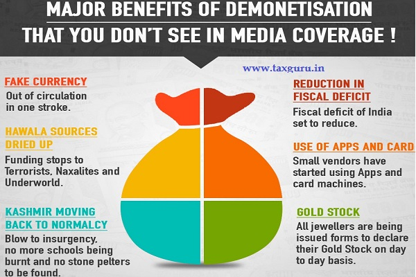 6 Major benefit of demonetisation that we do not see in ...
