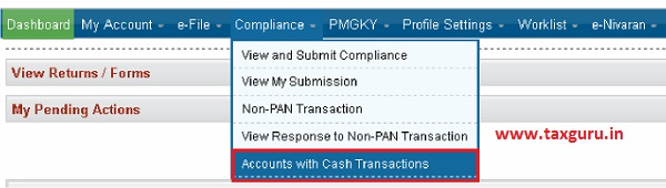 Accounts with Cash Transactions