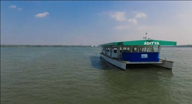 Adithya Solar powered Ferry - Front View