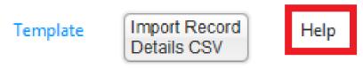 CSV template file