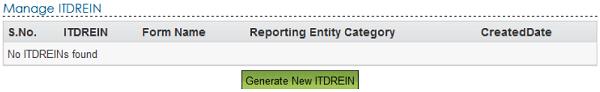 Generate New ITDREIN