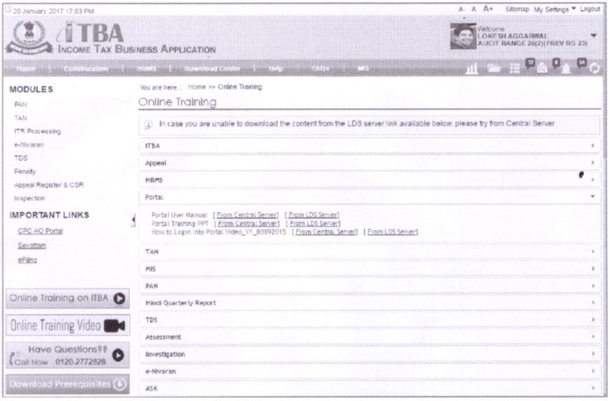 Online Training on ITBA