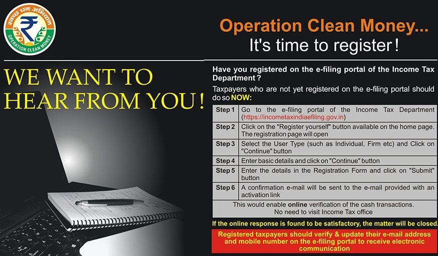 Operation Clean Money- Time to Register