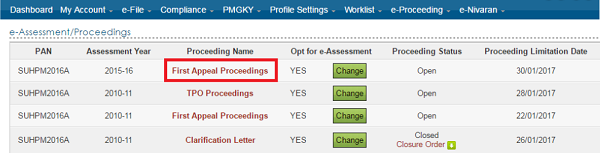 Proceeding Name