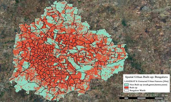 Spatial Urban Built-Up Extent Bengaluru