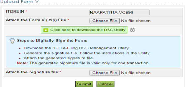 Upload form V