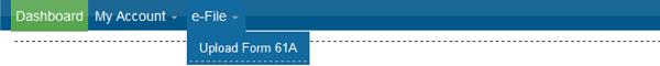 e-File Upload Form 61A.