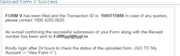 e-Filing system Successful