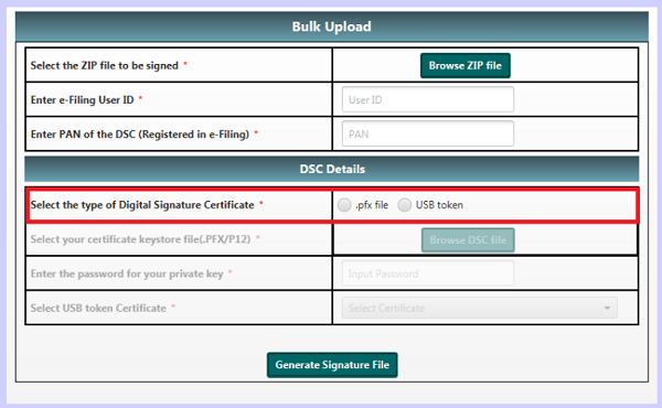 type of Digital Signature Certificate