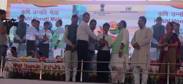 NBB receiving award in Krishi Unnati Mela at IARI, Pusa.