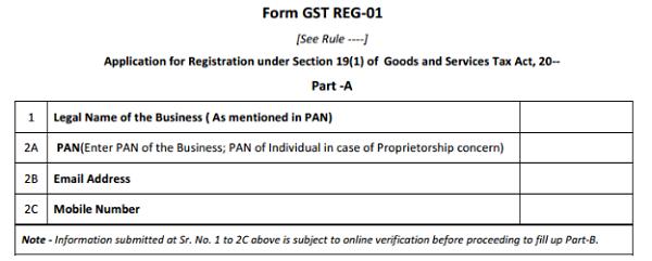 Form GST REG-01