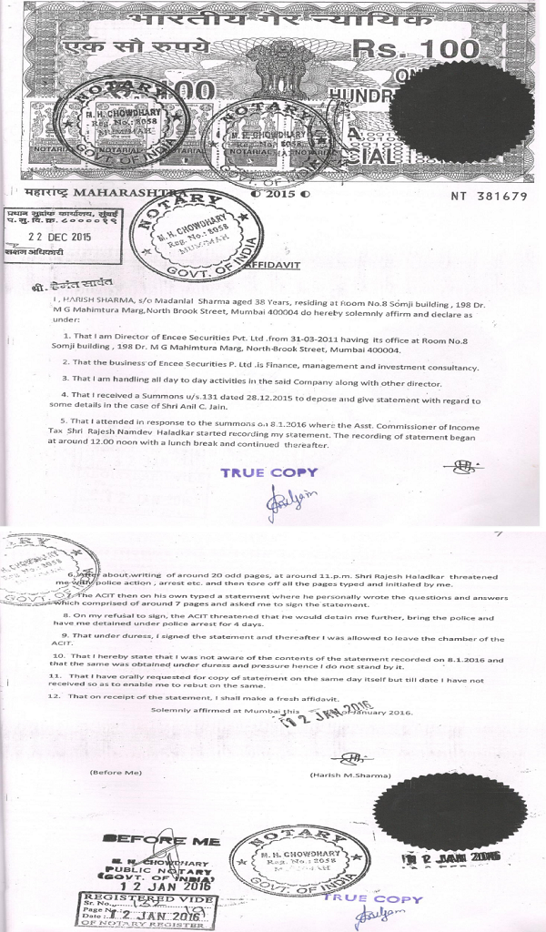 Affidavit 3