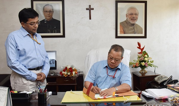 Mr.Anthony Lianzuala today took over as the New Controller General of Accounts (CGA),Department of Expenditure,Ministry of Finance,in Delhi.
