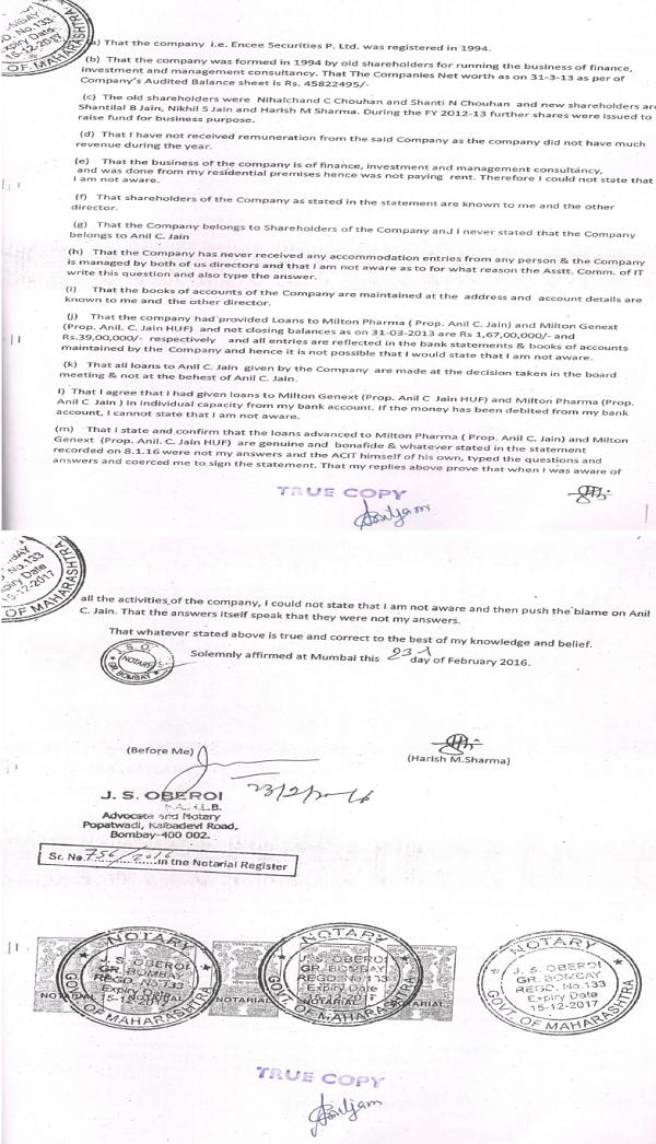affidavit 2