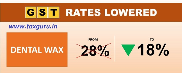 'Tooth is more valuable than Diamond'. #GST rates on Dental Wax reduced from 28% to 18%. Keep smiling!!