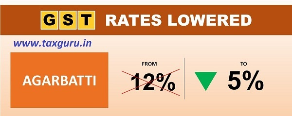 Wish you a very Happy Ardaas, Ibadat, Prayer, and Puja. #GST rates on Agarbatti reduced from 12% to 5%.