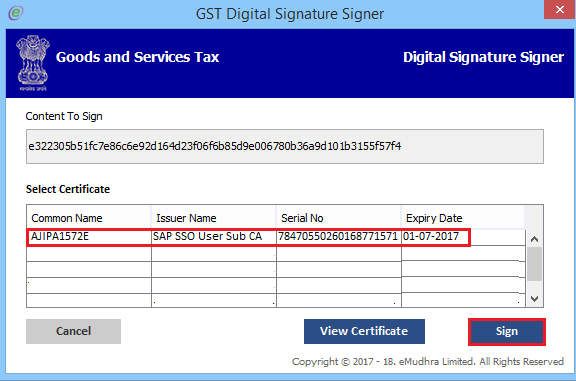 Digital Signature Signaer gst