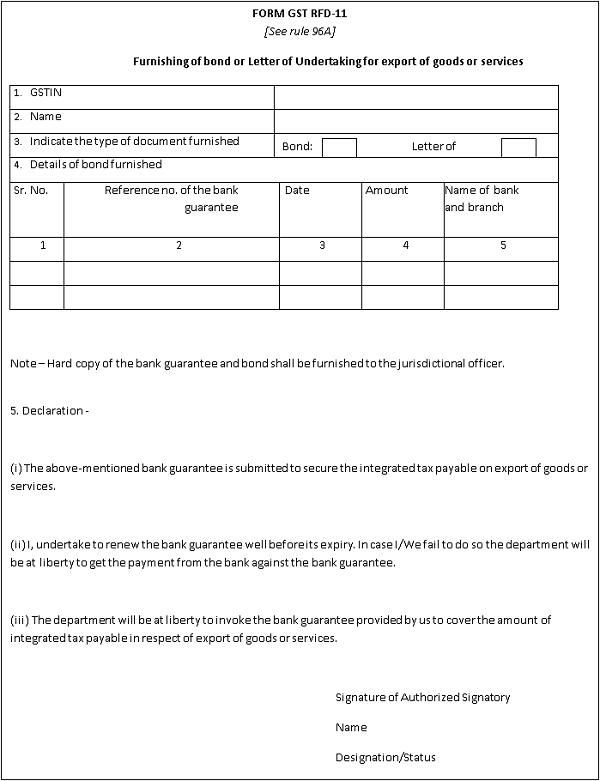 Form GST RFD-11