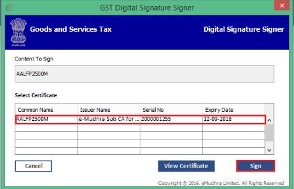 GST Digital Signature Signer