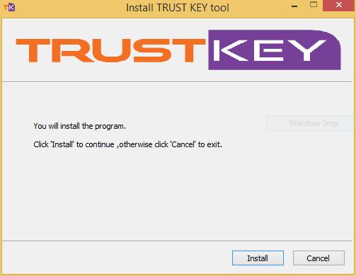 Install TRUST KEY Tool