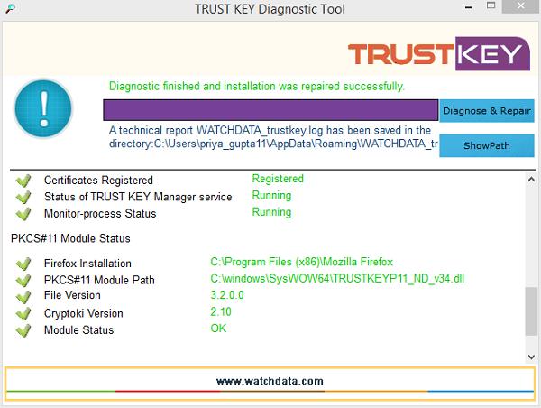 TRUST KEY Diagnostic Tool