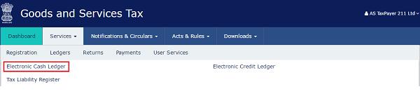Electronic Cash Ledger under GST - Image 1