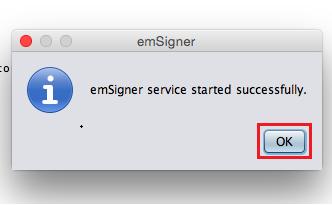 emSigner service