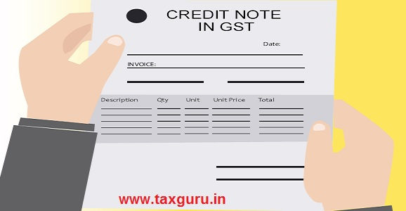 Credit Note in GST