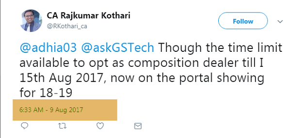 Not able to opt for composition scheme under GST for FY 2017-18? Image 5