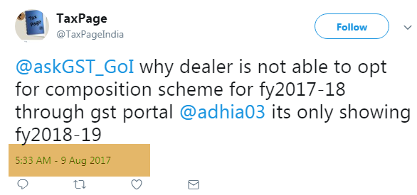 Not able to opt for composition scheme under GST for FY 2017-18? Image 6