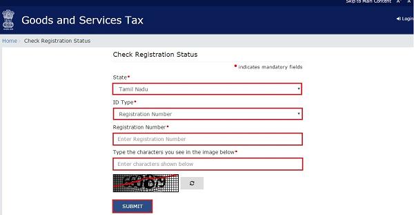 Check Registration Status