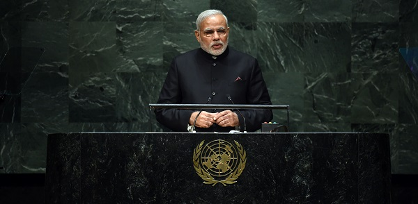PM Narendra Modi addressing the UN General Assembly