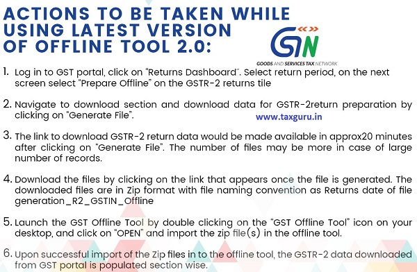 Actions to be Taken While Using Latest Version of Offline Tool 2.0