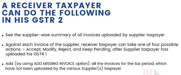 Receiver Taxpayer GST