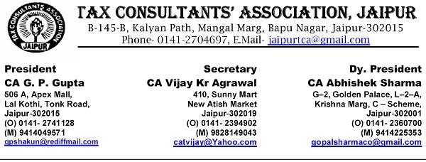 Tax Consultants Association, Jaipur