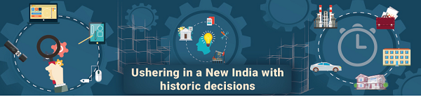 Ushering in a New India with historic decisions