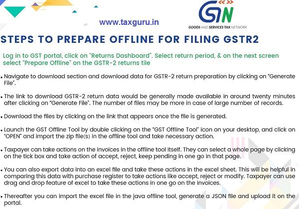 Step by step guide to prepare GSTR-2 offline for filing | TaxGuru