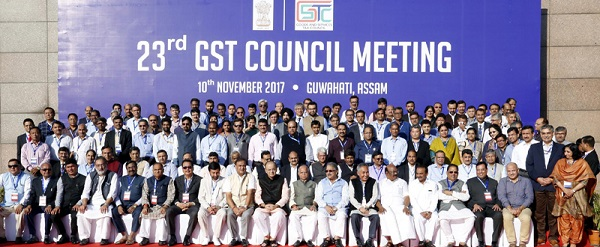 23rd GST Council Meeting held in Guwahati on 9-10th November, 2017